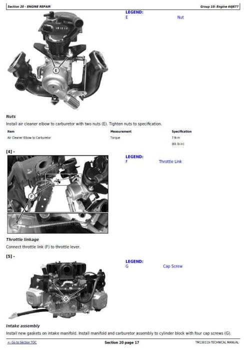 Second Additional product image for - John Deere X330, X350, X354, X370, X380, X384, X390, X394 Riding Lawn Tractor Technical Manual (TM138119)