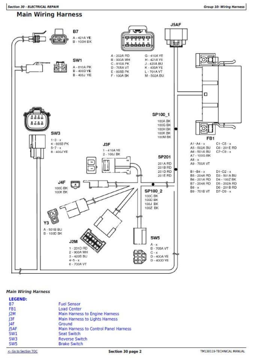 Third Additional product image for - John Deere X330, X350, X354, X370, X380, X384, X390, X394 Riding Lawn Tractor Technical Manual (TM138119)