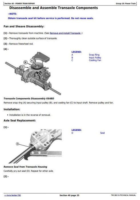 Second Additional product image for - John Deere X350R Select Series Riding Lawn Tractors (Worldwide) Technical Service Manual (TM138219)