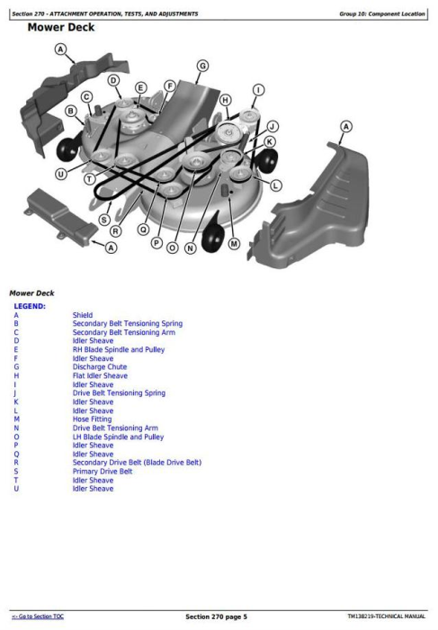 Fourth Additional product image for - John Deere X350R Select Series Riding Lawn Tractors (Worldwide) Technical Service Manual (TM138219)