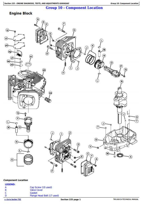 Third Additional product image for - John Deere Z525E, Z535M, Z540M, Z535R, Z540R ZTrak Riding Lawn Mower Technical Service Manual (TM140419)