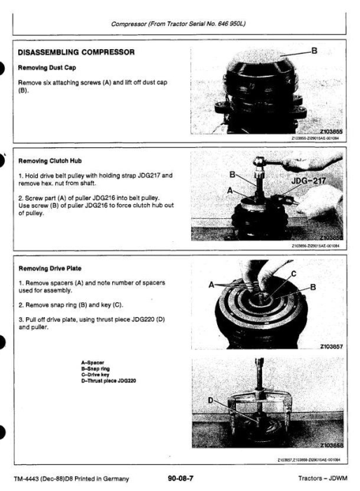 Fourth Additional product image for - John Deere 3050, 3350, 3650 Tractors Service Repair Technical Manual (tm4443)
