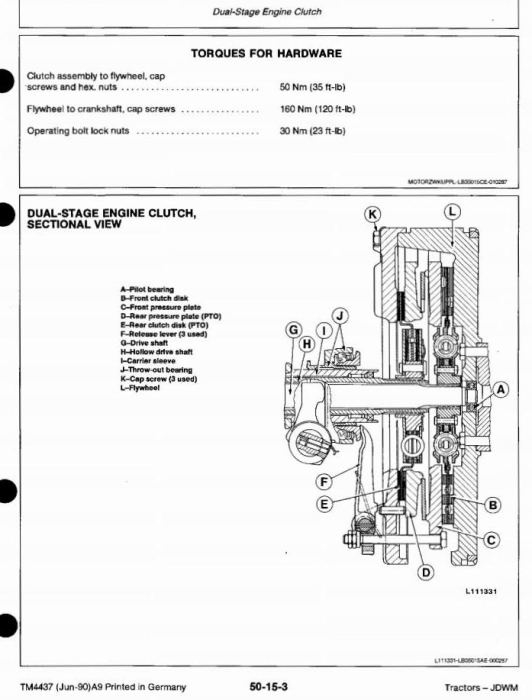 Third Additional product image for - John Deere 1350, 1550, 1750, 1850, 1850N, 1950, 1950N Tractors Technical Service Manual (tm4437)