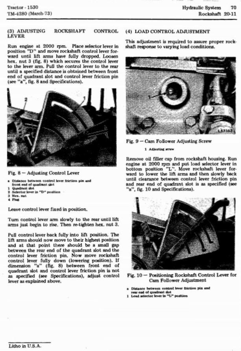 Fourth Additional product image for - John Deere 1530 Tractors Technical Service Manual (tm4280)