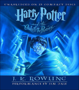 HARRY POTTER AND THE ORDER OF THE PHOENIX By J. K. Rowling (2003) (LISTENING LIBRARY) Unabridged 320 Kbps MP3 AUDIO BOOK | Audio Books | Children's
