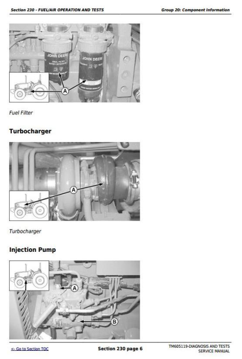 Fourth Additional product image for - John Deere Tractors 6100D, 6110D, 6115D, 6125D, 6130D, 6140D Diagnostic & Tests Service Manual (TM605119)