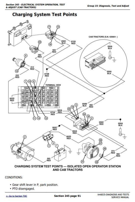 Third Additional product image for - John Deere Tractors 6403, 6603 (North America) Diagnosis and Tests Service Manual (TM6025)