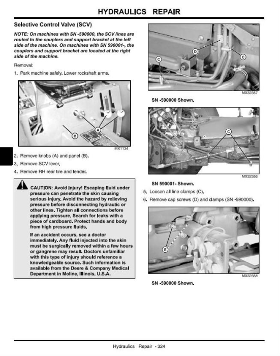 Third Additional product image for - John Deere 990 Compact Utility Tractors Technical Service Manual (tm1848)