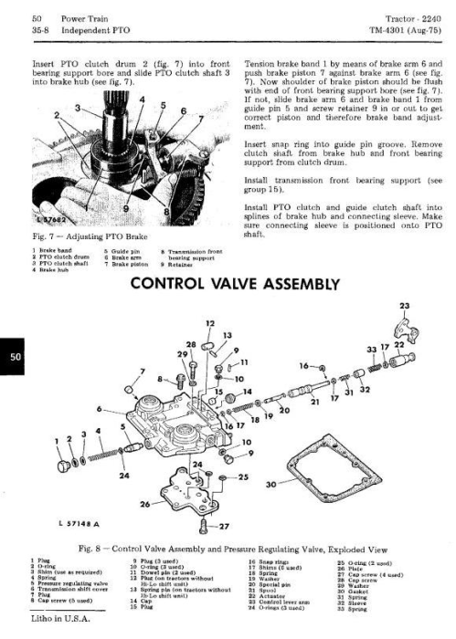 Third Additional product image for - John Deere 2240 Utility Tractors Technical Service Manual (tm4301)