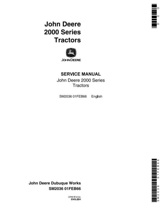First Additional product image for - John Deere 2010 Wheel Tractors Service Technical Manual (sm2036)