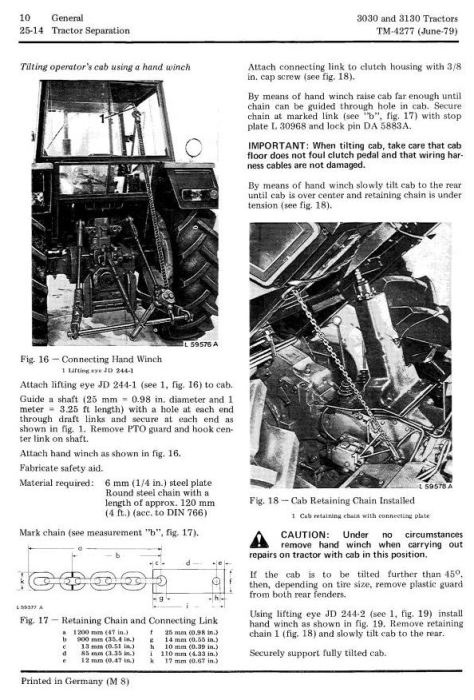 Second Additional product image for - John Deere 3030, 3130 Tractors All Inclusive Technical Service Manual (tm4277)