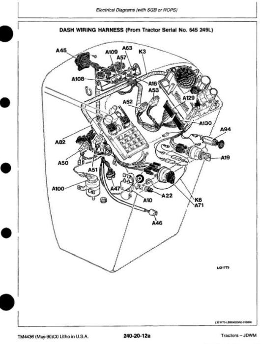 Second Additional product image for - John Deere 2155, 2355, 2355N, 2555, 2755, 2855, 2855N, 2955, 3155 Tractors Diagnosic Manual+Sup (tm4436)