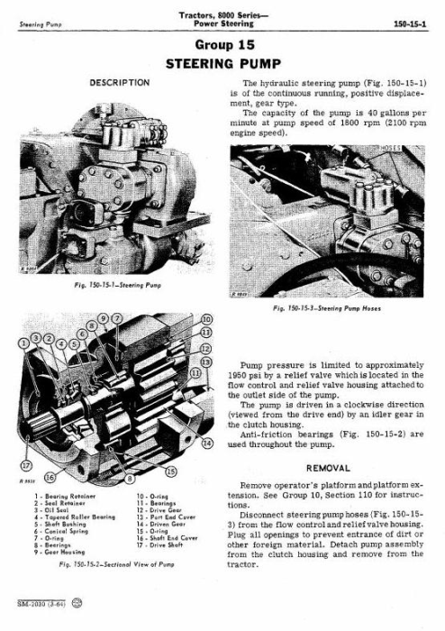 Third Additional product image for - John Deere 8010, 8020  2WD or MFWD Tractors All Inclusive Technical Service Manual (sm2030)