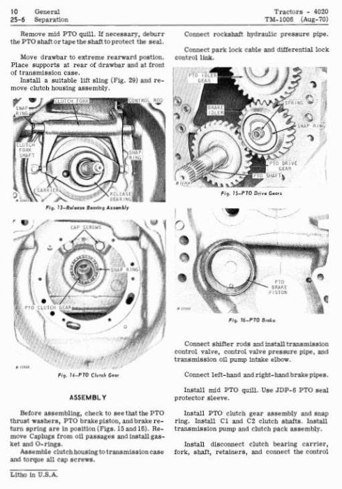 John Deere 4000, 4020 Tractors Diagnostic and Repair