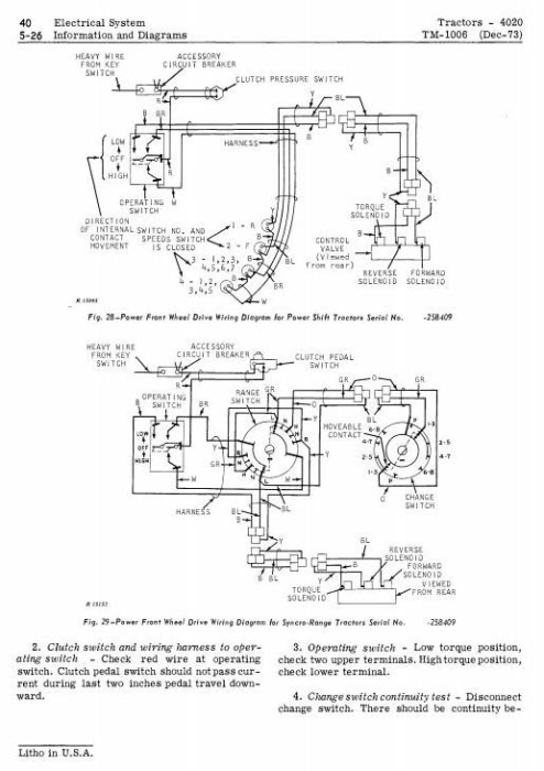 Third Additional product image for - John Deere 4000, 4020 Tractors Diagnostic and Repair Technical Service Manual (tm1006)