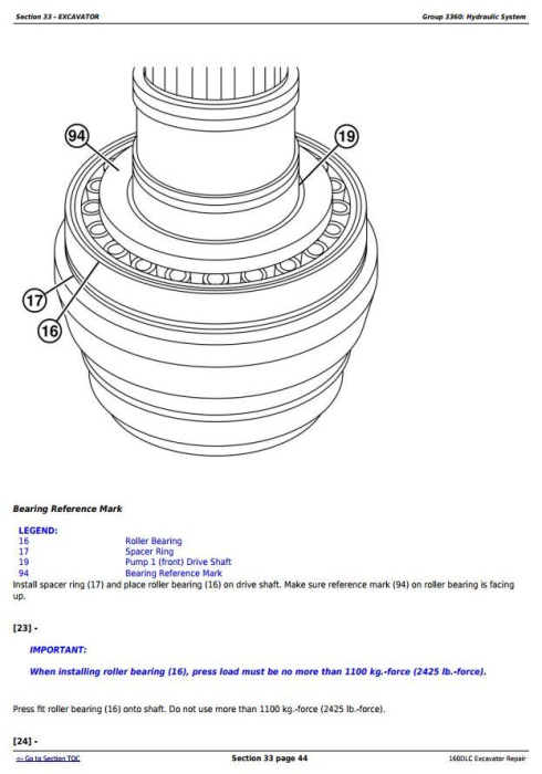 Third Additional product image for - John Deere 160DLC Excavator Service Repair Manual (TM10091)