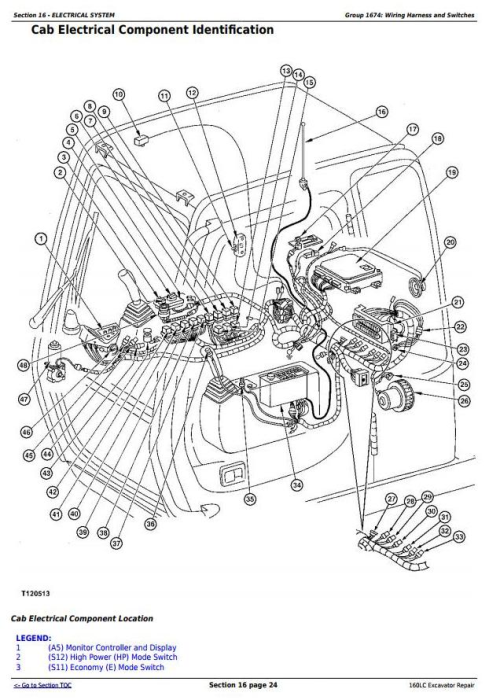 Fourth Additional product image for - John Deere 160LC Excavator Service Repair Technical Manual (tm1662)