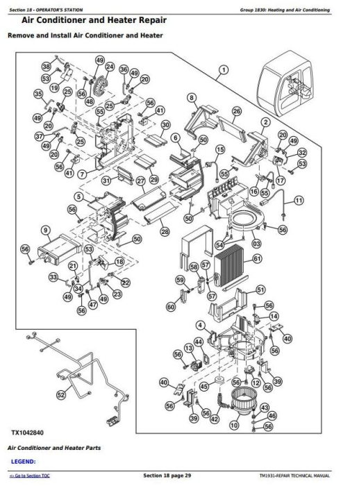 Second Additional product image for - John Deere 200CLC, 230CLC and 270CLC Excavator Service Repair Technical Manual (TM1931)