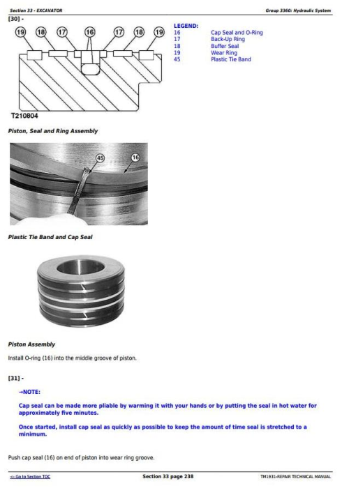 Third Additional product image for - John Deere 200CLC, 230CLC and 270CLC Excavator Service Repair Technical Manual (TM1931)
