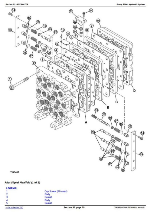 Fourth Additional product image for - John Deere 200CLC, 230CLC and 270CLC Excavator Service Repair Technical Manual (TM1931)