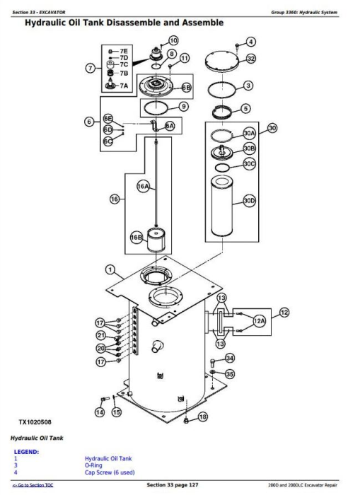 Fourth Additional product image for - John Deere 200D and 200DLC Excavator Service Repair Technical Manual (TM10079)