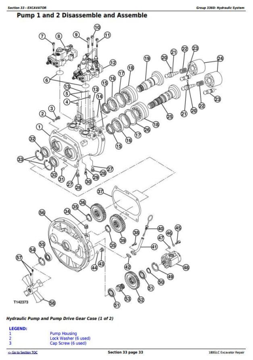 Third Additional product image for - John Deere 180GLC (PIN: 1FF180GX__D020001-) T3/S3A Excavator Service Repair Manual (TM12545)