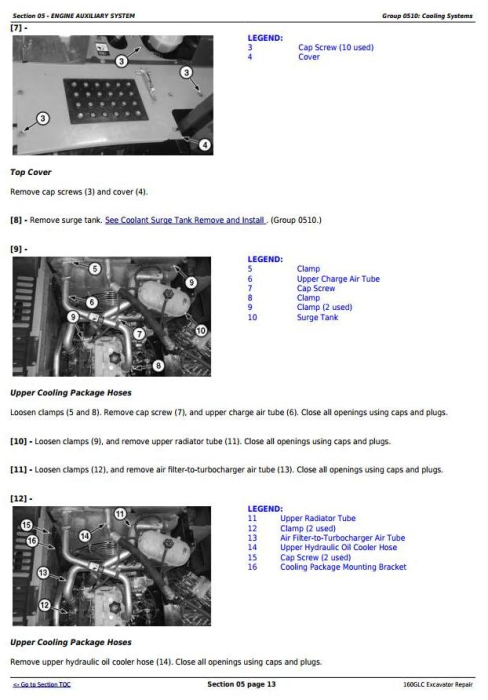 Second Additional product image for - John Deere 160GLC (PIN: 1FF160GX__D055001-) T3/S3A Excavator Service Repair Manual (TM12551)
