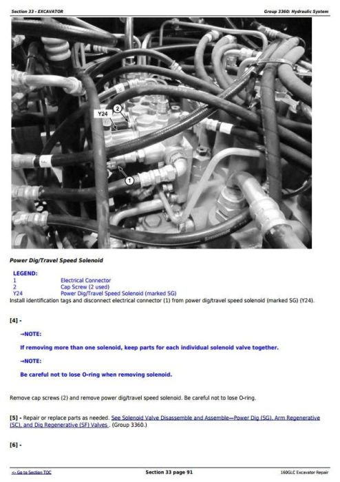 Fourth Additional product image for - John Deere 160GLC (PIN: 1FF160GX__D055001-) T3/S3A Excavator Service Repair Manual (TM12551)