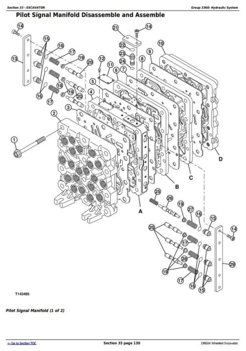 Fourth Additional product image for - John Deere 190GW (PIN: 1FF190GW__E051001-) Wheeled Excavator Service Repair Manual (TM13248X19)