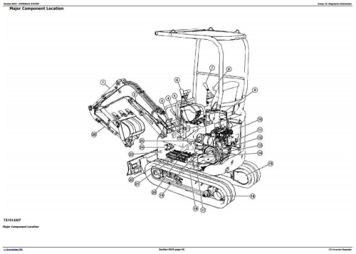 Fourth Additional product image for - John Deere 17D Compact Excavator Diagnostic, Operation and Test Manual (TM10258)