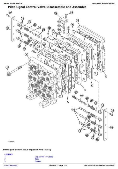 Third Additional product image for - John Deere 180CW and 210CW Wheeled Excavator Service Repair Manual (tm2287)