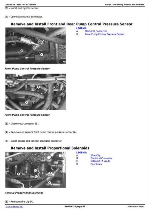 Second Additional product image for - John Deere 120 Excavator Service Repair Technical Manual (tm1660)