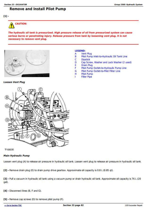 Third Additional product image for - John Deere 120 Excavator Service Repair Technical Manual (tm1660)
