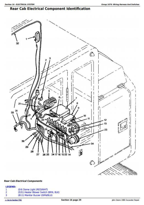 Second Additional product image for - John Deere 190E Excavator Service Repair Technical Manual (tm1540)