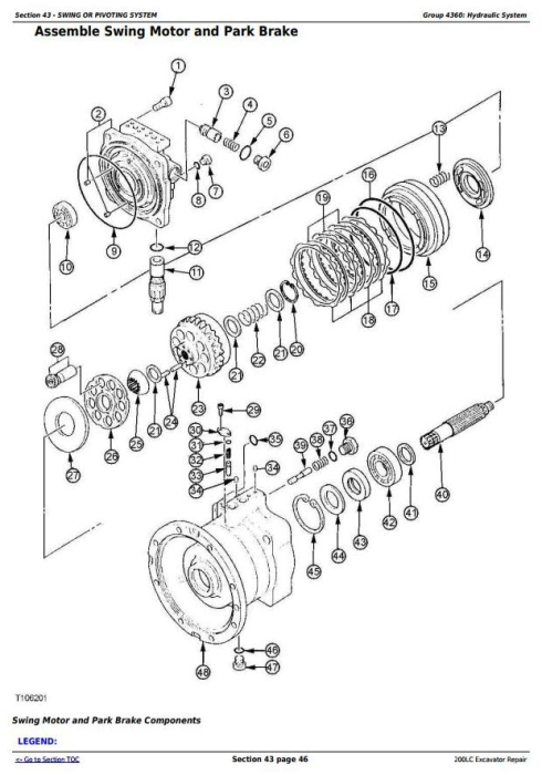 Fourth Additional product image for - John Deere 200LC Excavator Service Repair Manual (tm1664)