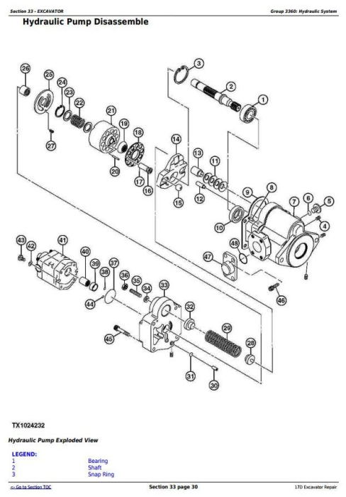 Fourth Additional product image for - John Deere 17D Compact Excavator Service Repair Technical Manual (TM10259)