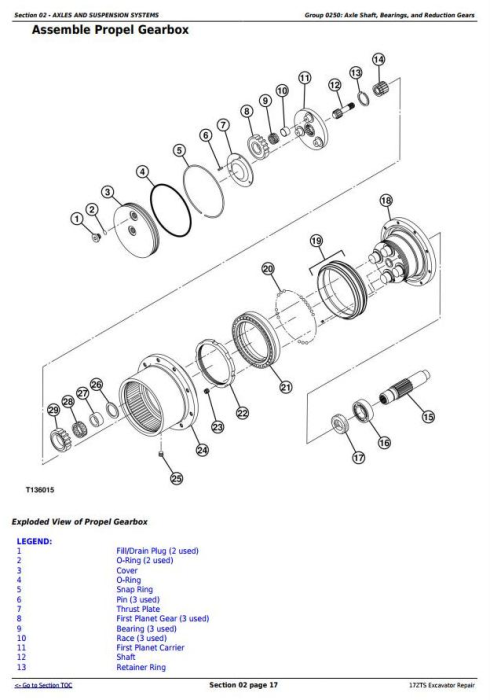 Second Additional product image for - John Deere 17ZTS Compact Excavator Service Repair Technical Manual (TM1897)