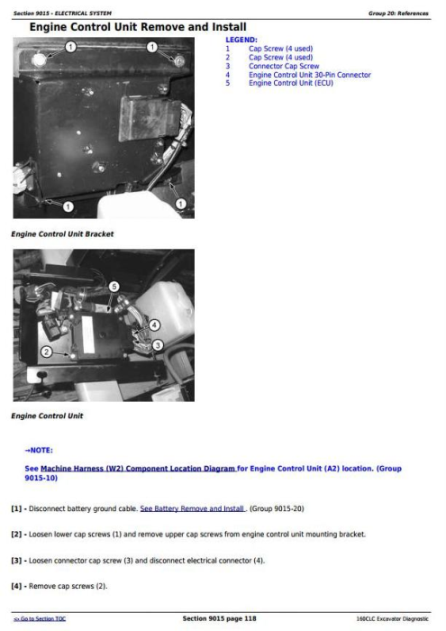 Third Additional product image for - John Deere 160CLC Excavator Diagnostic, Operation and Test Service Manual (TM1932)
