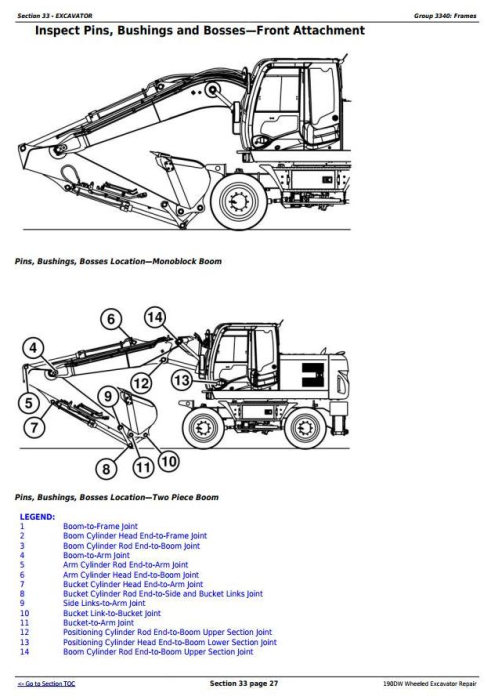 Fourth Additional product image for - John Deere 190DW Wheeled Excavator Service Repair Technical Manual (tm10543)