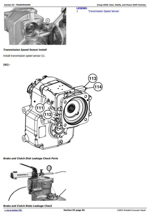 Third Additional product image for - John Deere 220DW Wheeled Excavator Service Repair Technical Manual (tm10545)