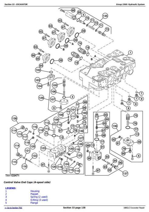 Fourth Additional product image for - John Deere 180GLC (PIN: 1FF180GX__E020001-) iT4/S3B Excavator Service Repair Manual (TM12339)