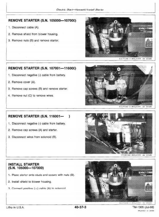 Second Additional product image for - Commercial Walk-Behind Mowers Models 32, 36, 48, 52 inch Technical Service Manual (tm1305)