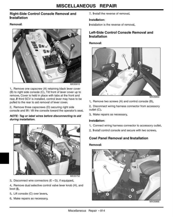 Fourth Additional product image for - John Deere 4120,4320,4520,4720(SN.120001-670000) Compact Utility Tractors w.Cab Technical Manual (tm2370)