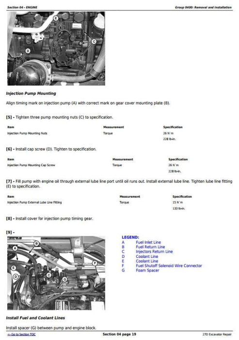 Second Additional product image for - John Deere 27D Compact Excavator Service Repair Technical Manual (TM2356)