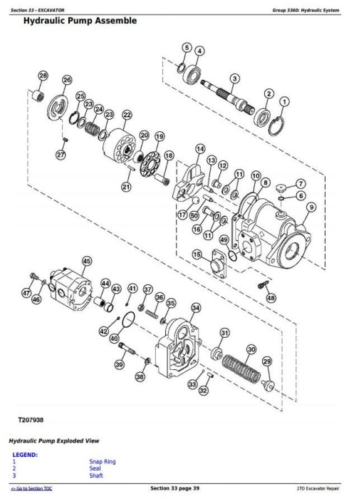 Third Additional product image for - John Deere 27D Compact Excavator Service Repair Technical Manual (TM2356)