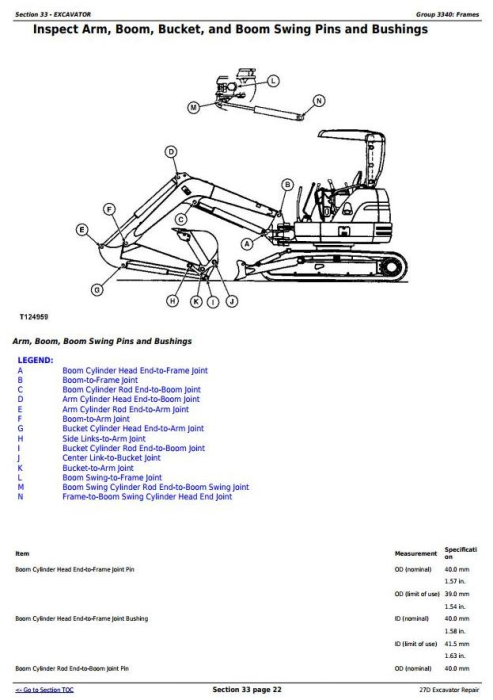 Fourth Additional product image for - John Deere 27D Compact Excavator Service Repair Technical Manual (TM2356)