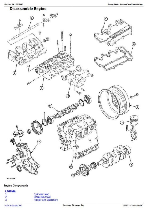 Second Additional product image for - John Deere 27ZTS Compact Excavator Service Repair Technical Manual (TM1837)
