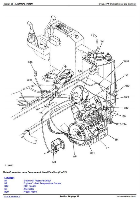 Fourth Additional product image for - John Deere 27ZTS Compact Excavator Service Repair Technical Manual (TM1837)