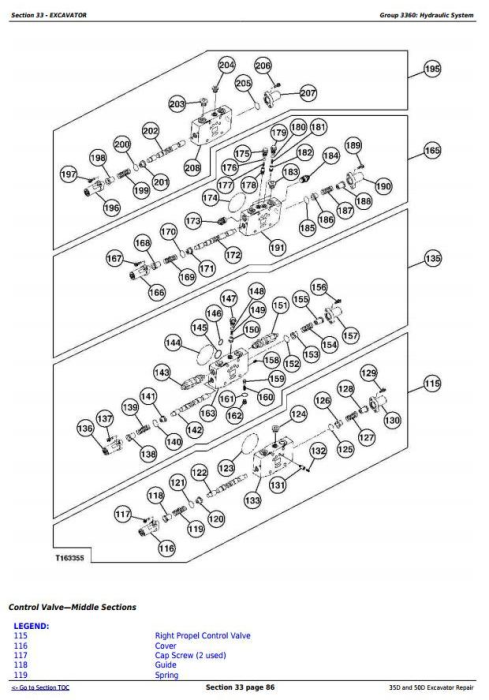 Fourth Additional product image for - John Deere 35D and 50D Compact Excavator Service Repair Technical Manual (TM2264)