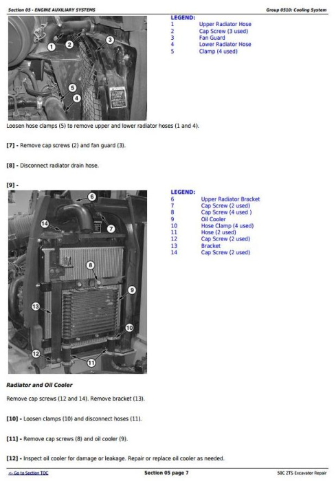Second Additional product image for - John Deere 50Czts Compact Excavator Service Repair Technical Manual (TM2057)